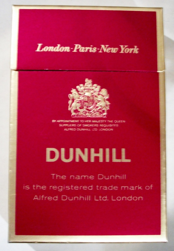 Dunhill King Size box - vintage British Cigarette Pack