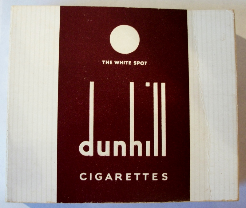 Dunhill The White Spot - vintage British Cigarette Pack