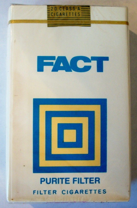 Fact, Purite Filter King Size - vintage Trademark Cigarette Pack
