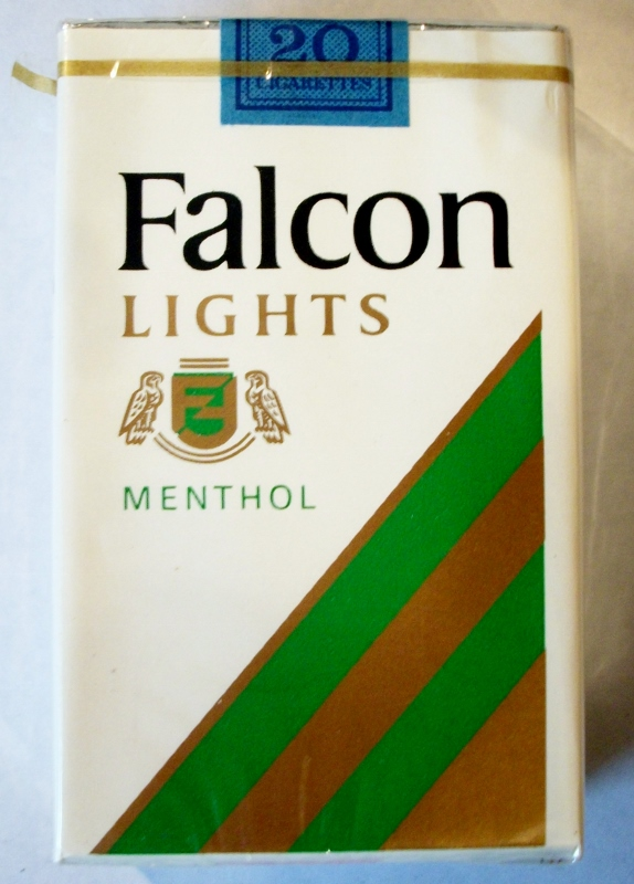 Falcon Lights Menthol, King Size - vintage American Cigarette Pack