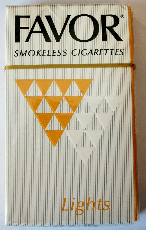 Favor Smokeless Cigarettes Lights, King Size - vintage American Cigarette Pack
