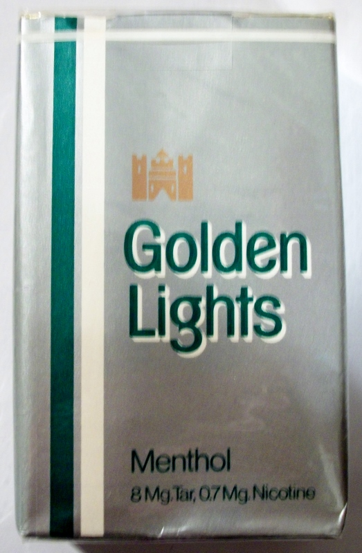 Golden Lights Menthol King Size - vintage American Cigarette Pack