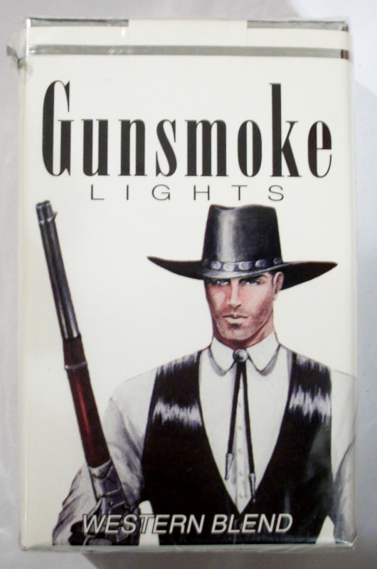 Gunsmoke Lights King Size Western Blend - vintage American Cigarette Pack