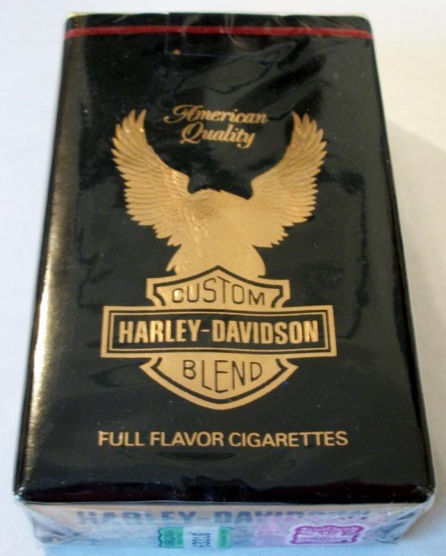 Harley Davidson Full Flavor, King Size - vintage American Cigarette Pack