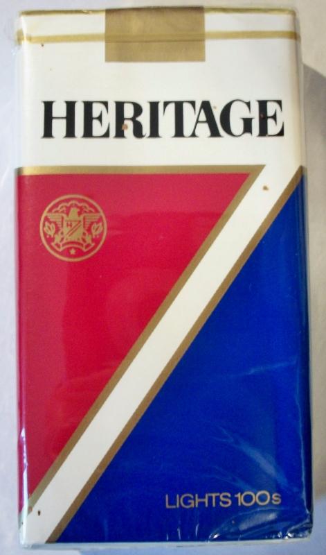 Heritage Lights 100's - vintage American Cigarette Pack