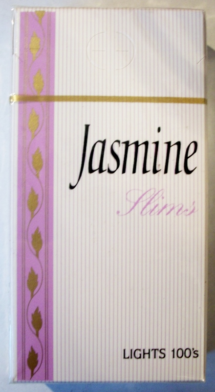 Jasmine Slims Lights 100's - vintage American Cigarette Pack