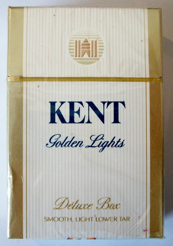Kent Golden Lights deluxe box, King Size - vintage American Cigarette Pack