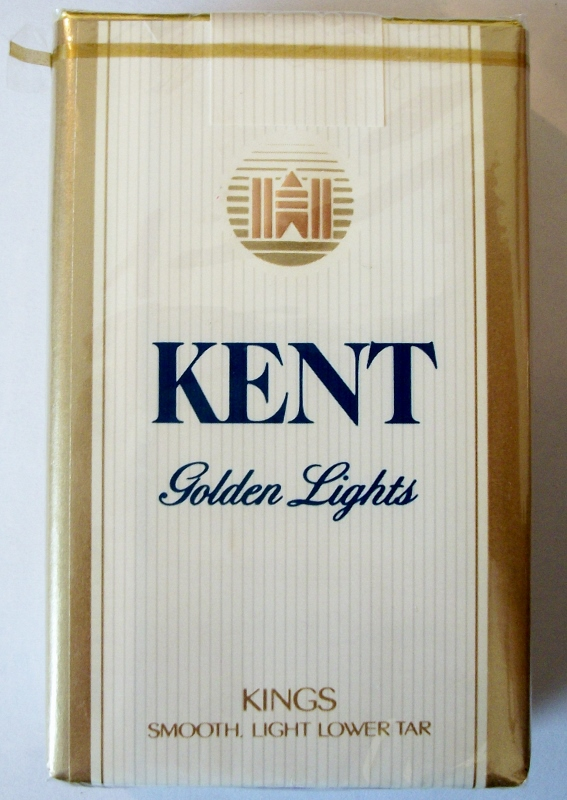 Kent Golden Lights Kings - vintage American Cigarette Pack