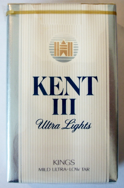 Kent III Ultra Lights Kings - vintage American Cigarette Pack