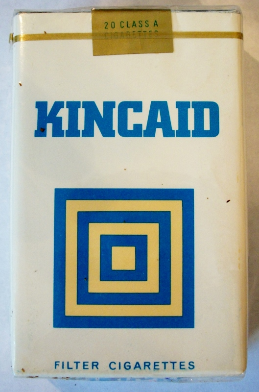Kincaid Filter, King Size - vintage Trademark Cigarette Pack