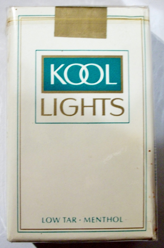 Kool Lights, Low Tar Menthol, King Size - vintage American Cigarette Pack