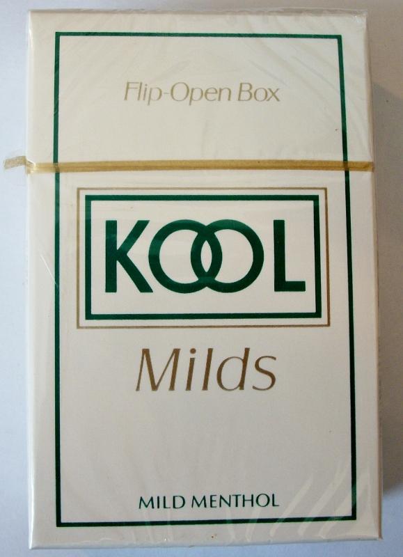 Kool Milds Menthol, King Size, box - vintage American Cigarette Pack