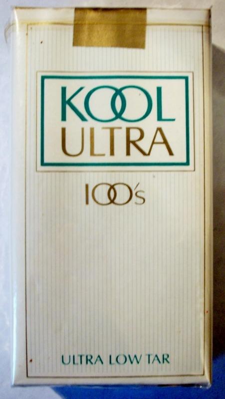 Kool Ultra 100's - vintage American Cigarette Pack