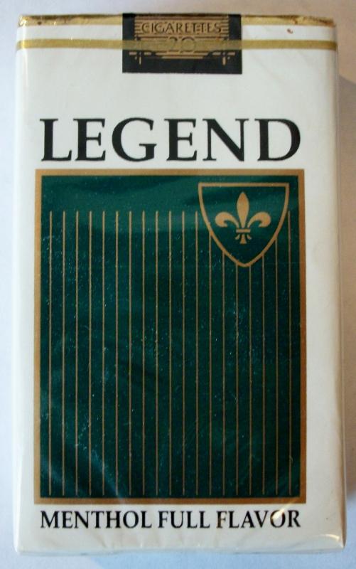 Legend Menthol Full Flavor - vintage American Cigarette Pack