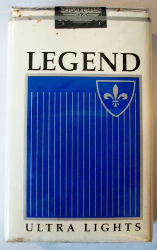 Legend Ultra Lights, King Size - vintage American Cigarette Pack