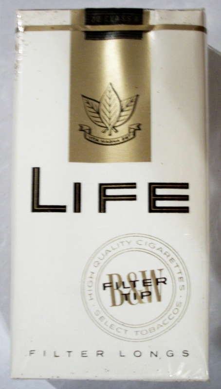 Life Filter Longs - vintage American Cigarette Pack