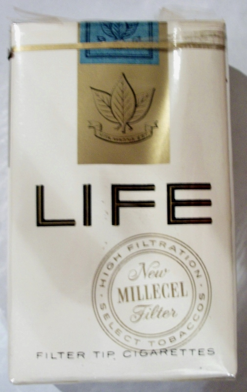 Life Millecel Filter King Size 1959 - vintage American Cigarette Pack