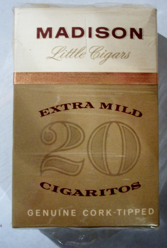 Madison Little Cigars Cork-Tipped - vintage American Cigarette Pack