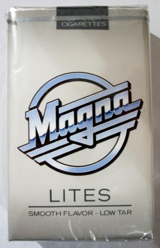 Magna Lites, King Size - vintage American Cigarette Pack