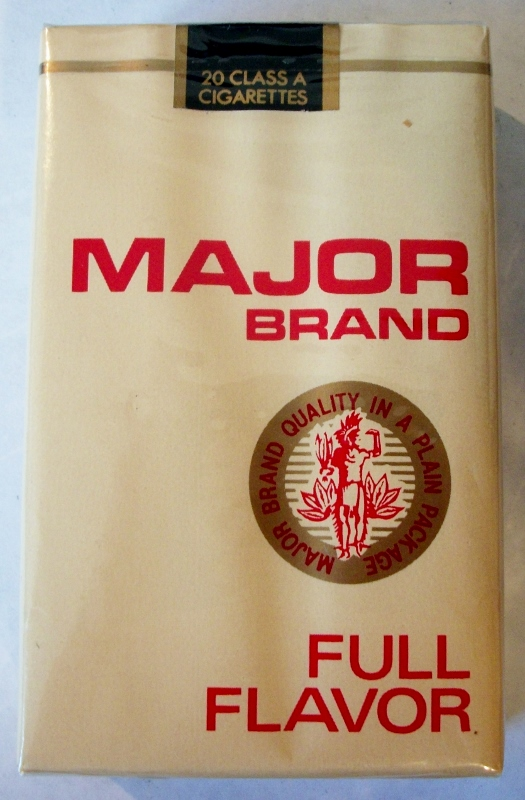 Major Brand Full Flavor - vintage American Cigarette Pack