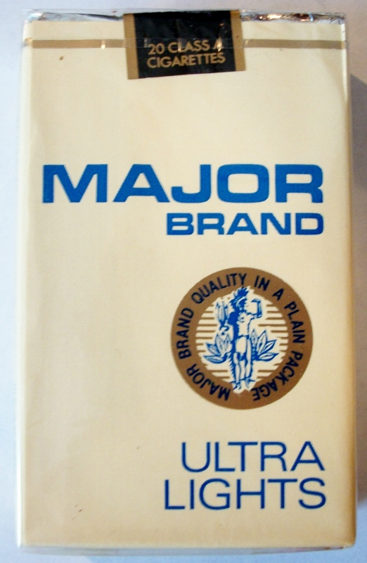 Major Brand Ultra Lights - vintage American Cigarette Pack