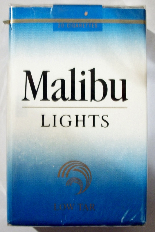 Malibu Lights, King Size - vintage American Cigarette Pack