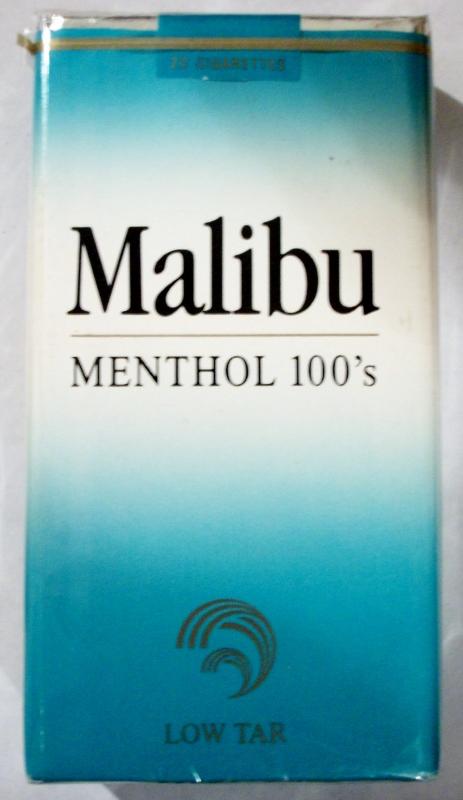 Malibu Menthol 100's - vintage American Cigarette Pack