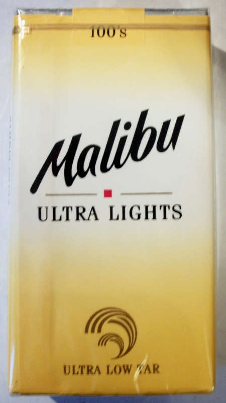 Malibu Ultra Lights 100's - vintage American Cigarette Pack (version 2)