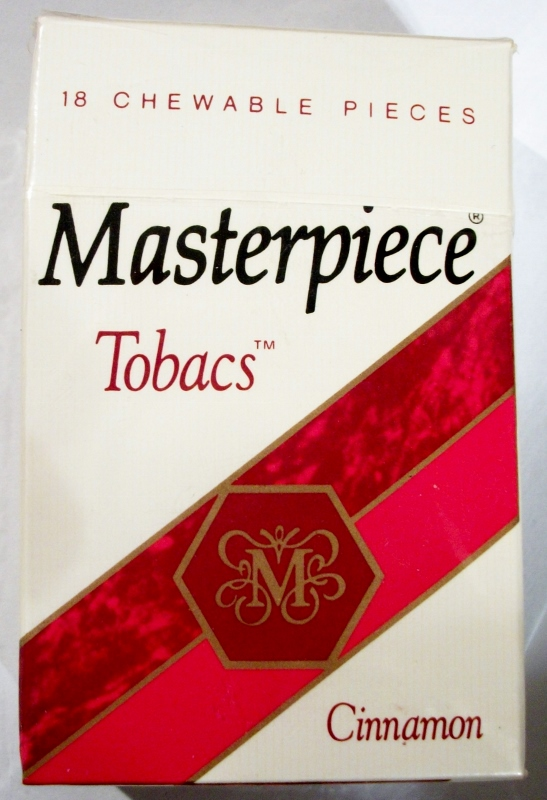 Masterpiece Tobacs Cinnamon - vintage American chewable tobacco