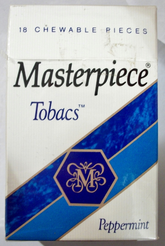 Masterpiece Tobacs Peppermint- vintage American chewable tobacco