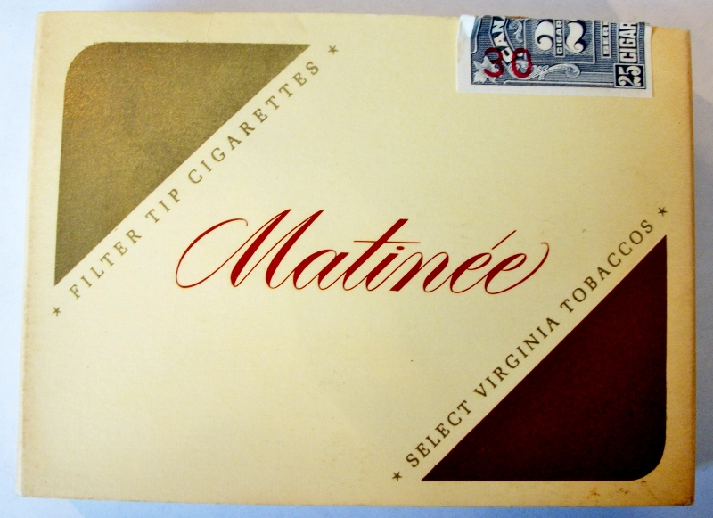 Matinée 25-pack Filter Tip - vintage Canadian Cigarette Pack