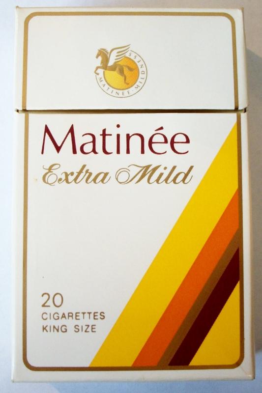 Matinée Extra Mild, king size - vintage Canadian Cigarette Pack