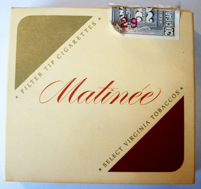 Matinée 20-pack Filter Tip - vintage Canadian Cigarette Pack