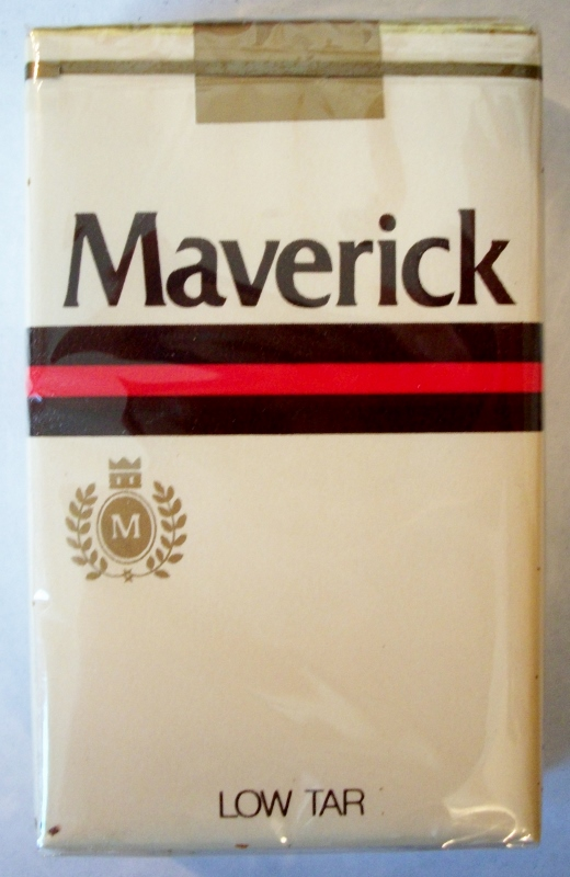 Maverick, King Size Low Tar - vintage American Cigarette Pack
