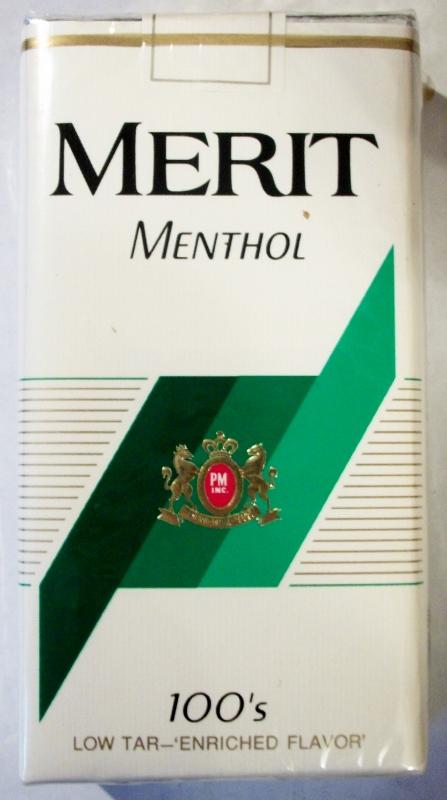 Merit Menthol 100's - vintage American Cigarette Pack