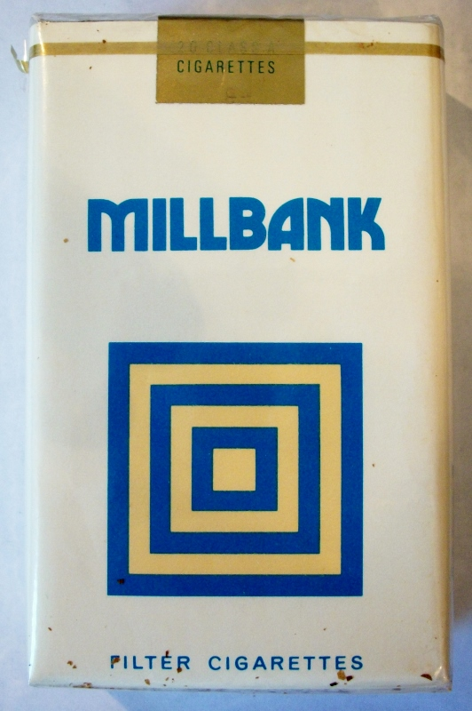 Millbank filter, king size - vintage Trademark Cigarette Pack