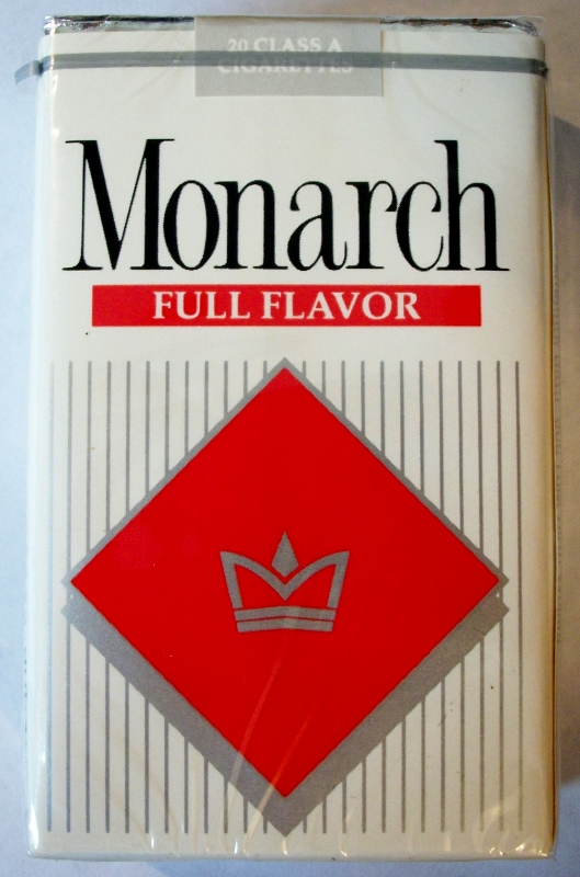 Monarch Full Flavor king size - vintage American Cigarette Pack