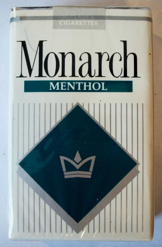 Monarch Menthol king size - vintage American Cigarette Pack