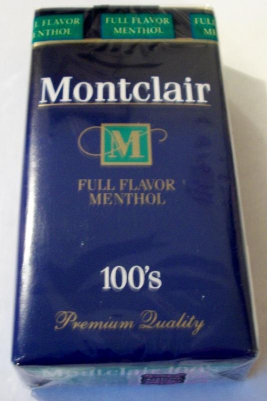 Montclair Full Flavor Menthol 100's - vintage American Cigarette Pack