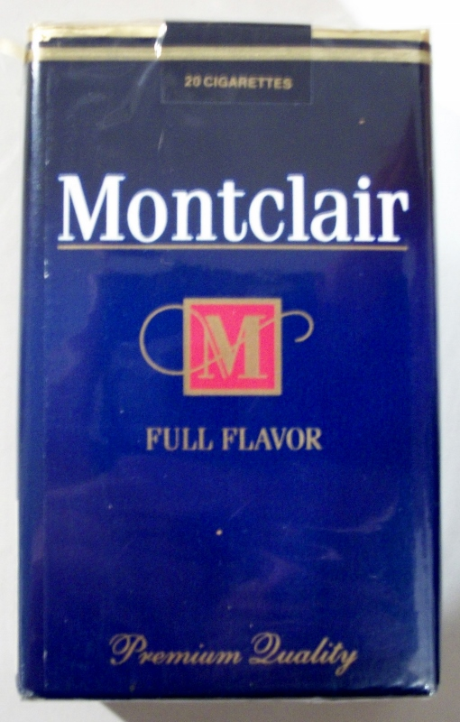 Montclair Full Flavor King Size - vintage American Cigarette Pack