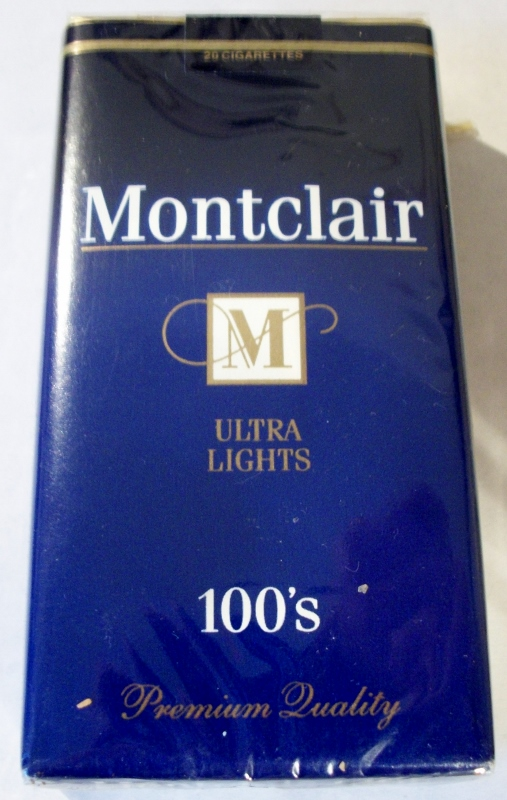 Montclair Ultra Lights 100's - vintage American Cigarette Pack