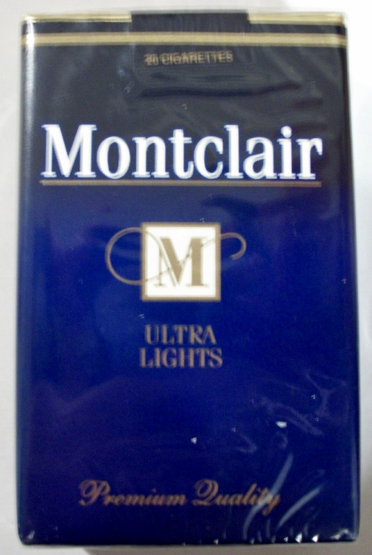 Montclair Ultra Lights King Size - vintage American Cigarette Pack