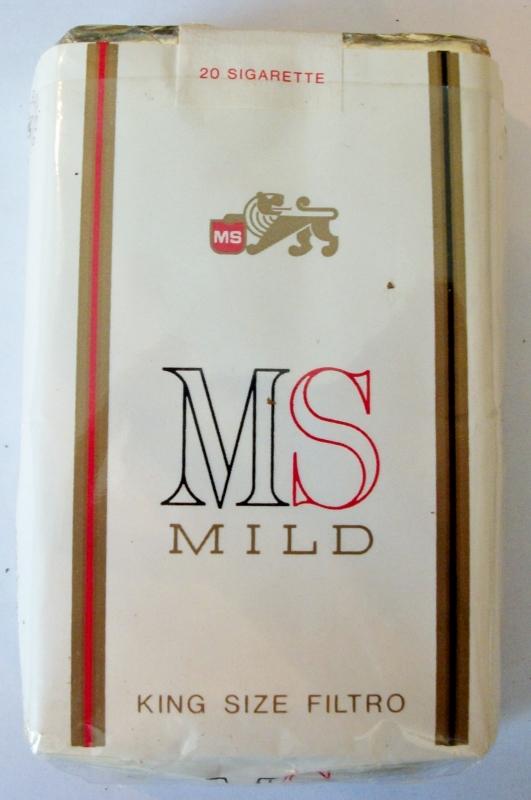 MS Mild King Size Filtro - vintage Italian Cigarette Pack