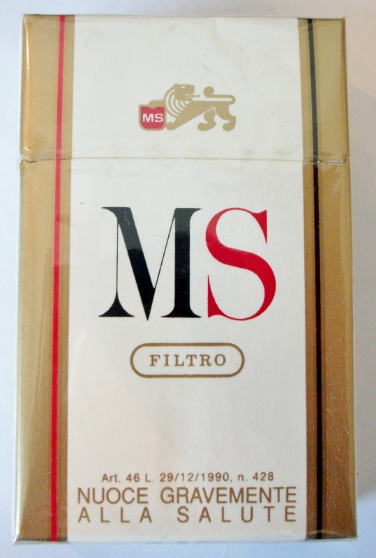 MS Filtro King Size box - vintage Italian Cigarette Pack