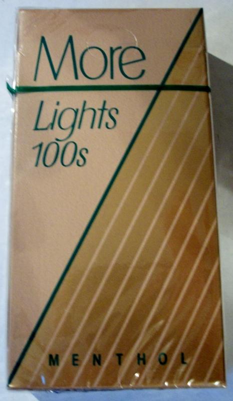 More Lights 100's Menthol - vintage American Cigarette Pack
