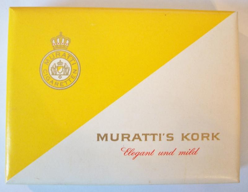 Muratti's Cigaretten Kork - vintage German Cigarette Pack