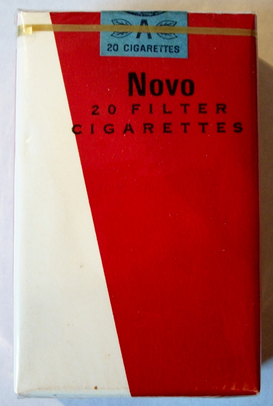 Novo, Filter King Size - vintage Trademark Cigarette Pack