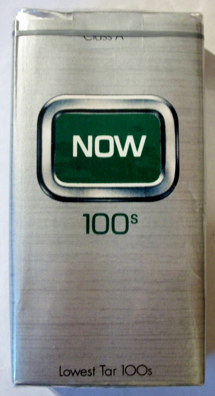 NOW 100's Menthol - vintage American Cigarette Pack