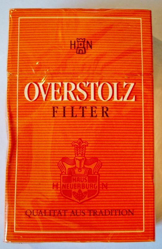 Overstolz Filter, King Size - vintage German Cigarette Pack