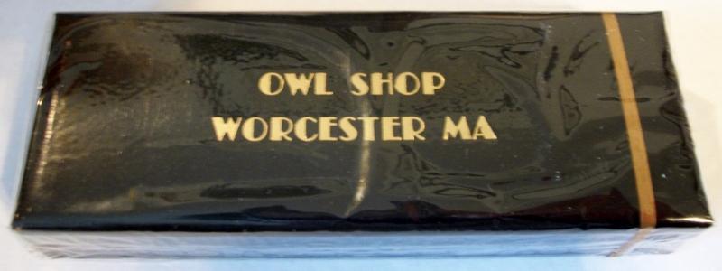 Owl Shop Worcester, MA, Sherman's - vintage American Cigarette Pack